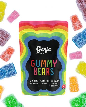 Ganja Bears Gummies - Sour Assorted Flavors (10 x 15mg)