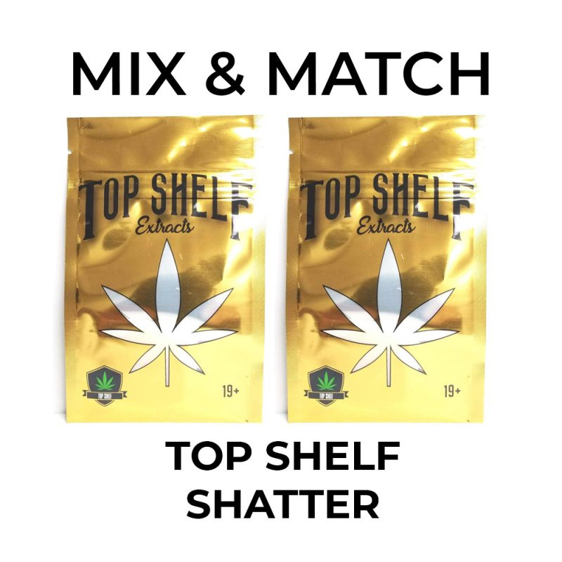 5 Pack Top Shelf Extracts Shatter - Mix and Match