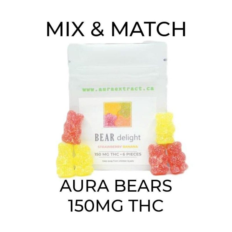 5 Pack Aura Gummy Bears (150mg) - Mix and Match