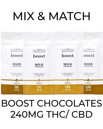 5 Pack Boost Chocolates (240mg) - Mix and Match