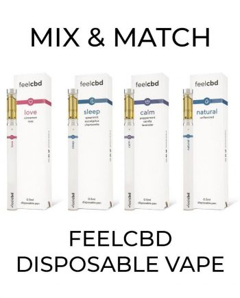 5 Pack FeelCBD Disposable Vape - Mix and Match