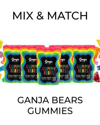 5 Pack Ganja Bear Gummies - Mix and Match
