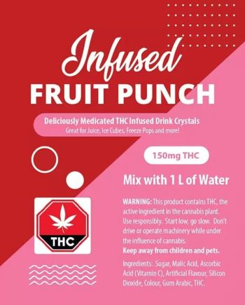 Fruit Punch Juice Crystals - 150mg THC