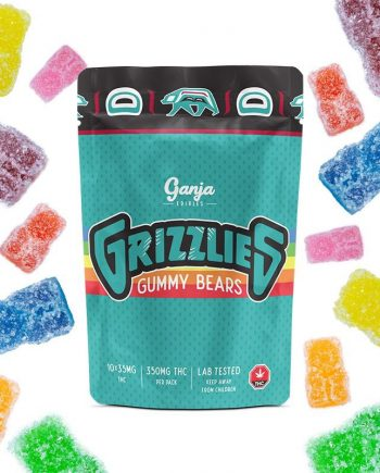 Ganja - Grizzlies Sour Gummy Bears 350mg THC