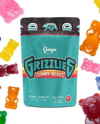Ganja - Grizzlies Regular Gummy Bears 350mg THC