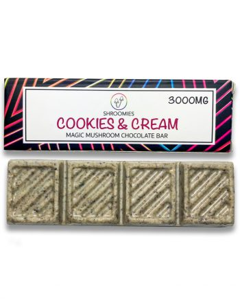 Shroomies - Cookies and Cream Chocolate Bar (3000mg)